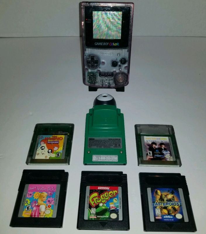 Game Boy Color Atomic Purple w/ 5 games, Camera and more