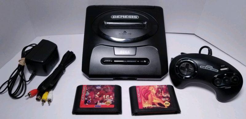 Sega GENESIS Model 2 Console w/ games tested & working – i12bretro's